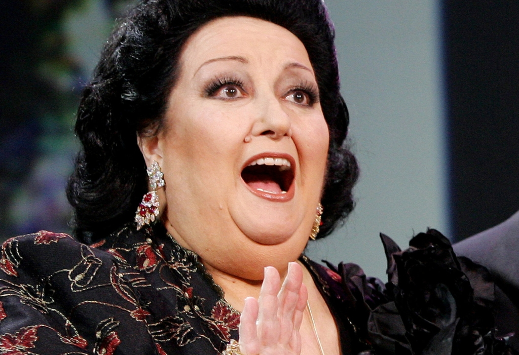 FILE PHOTO: Spanish opera singer Montserrat Caballe gestures during the Spanish Film Academy 'Goya' awards ceremony in Madrid, Spain January 30, 2005. REUTERS/Stringer/File Photo